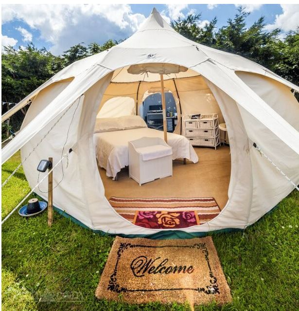 beautiful glamping tent