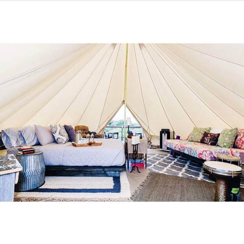 glamping set up