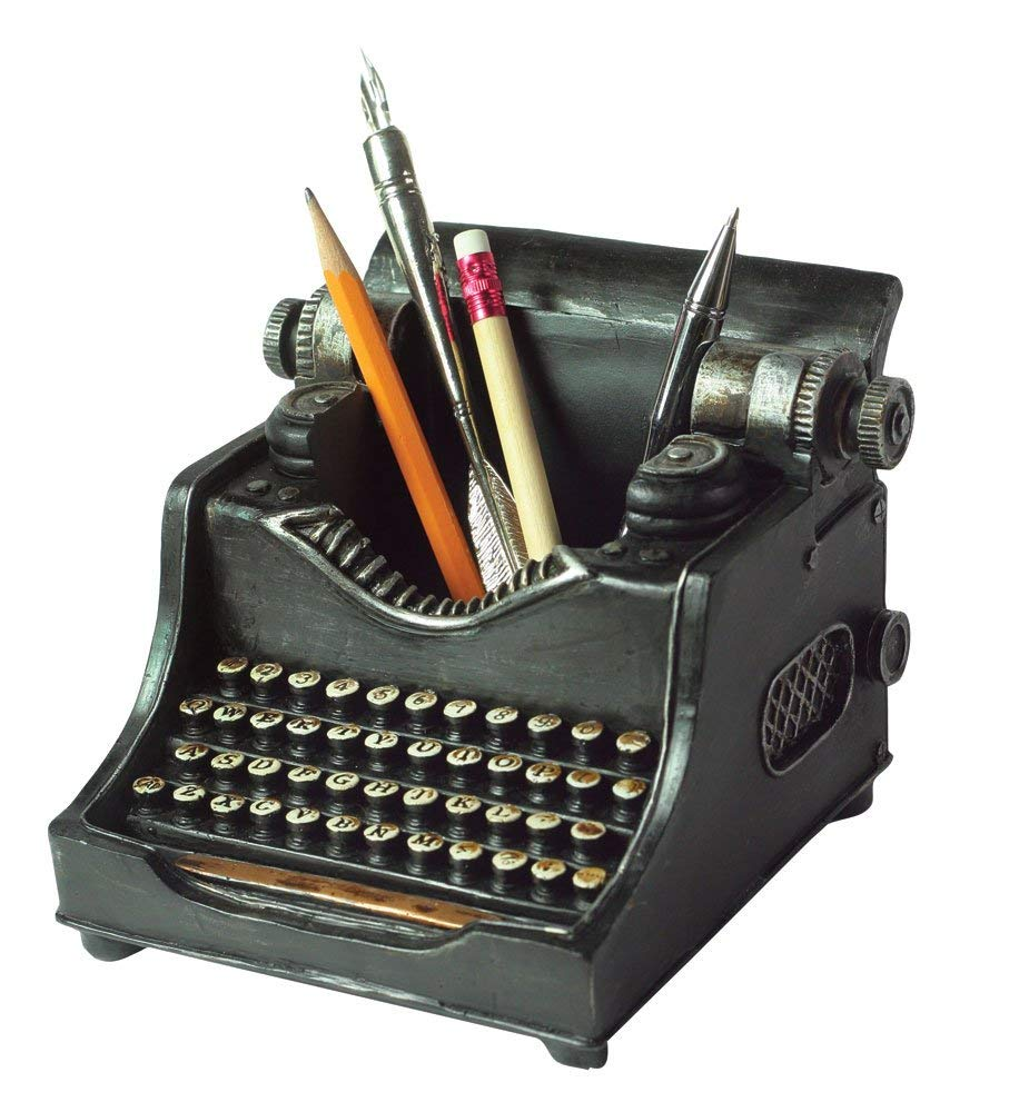 typewriter pencil cup