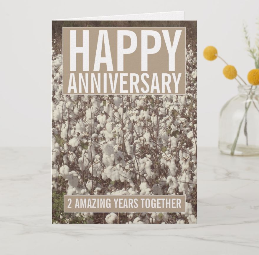 2nd anniversary card