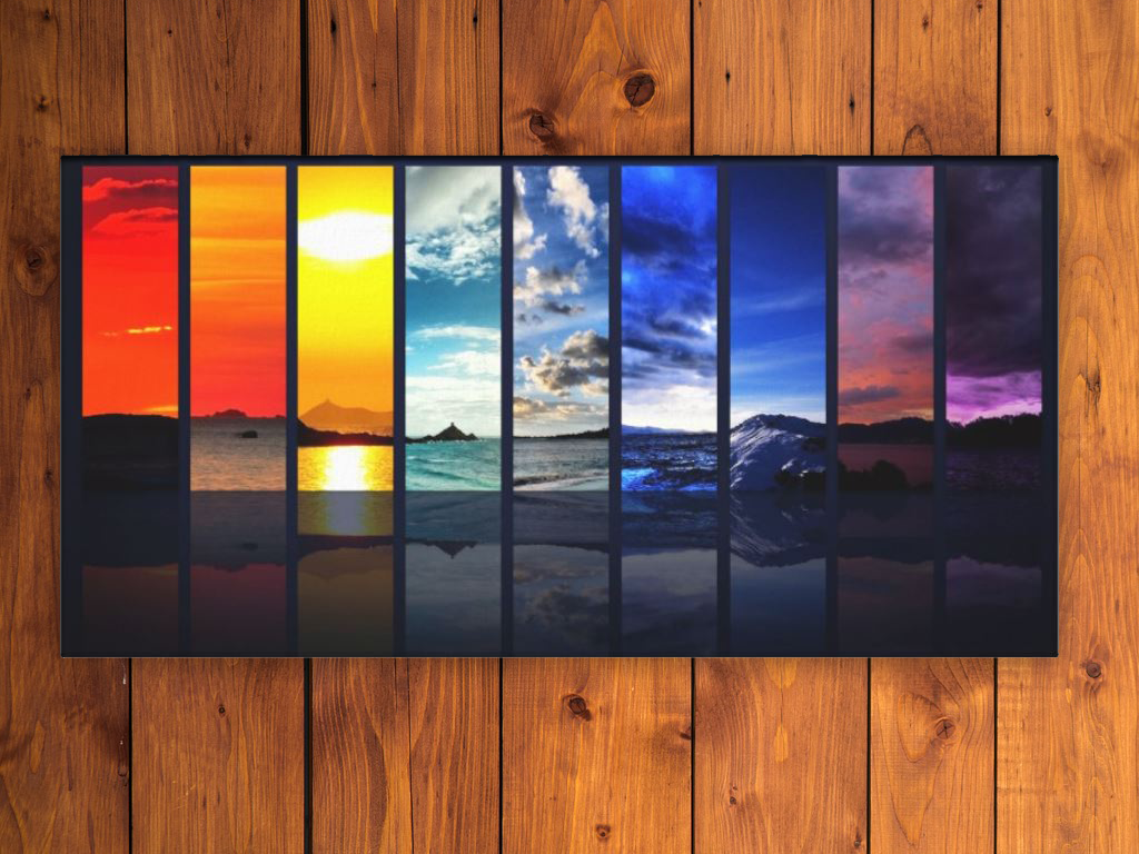 Seasons of Nature Abstract Canvas Art Print