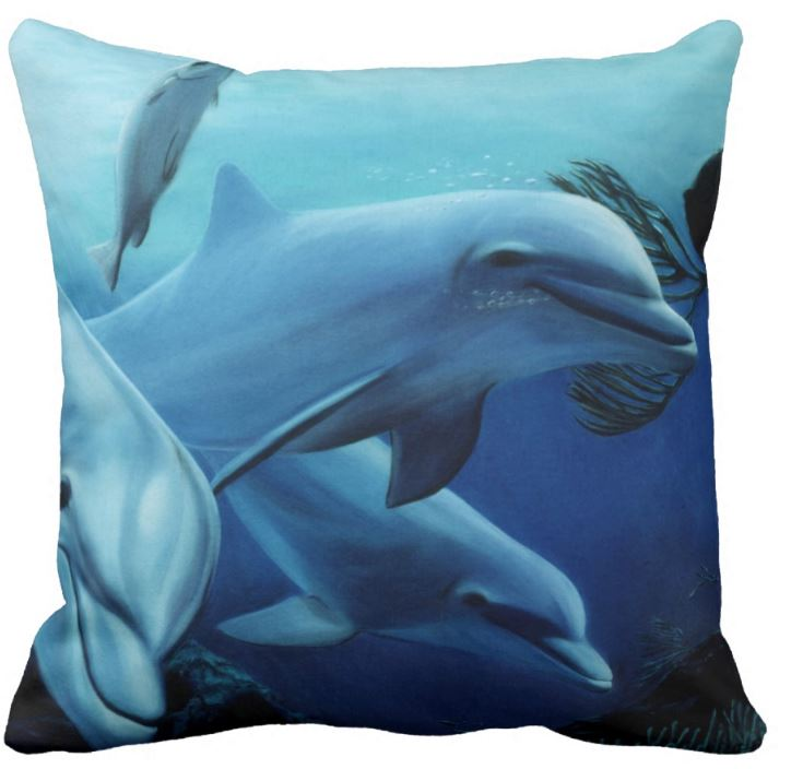 Beautiful Blue Beach House Cushions