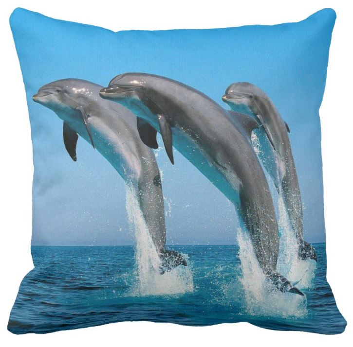 jumping dolphins cushion