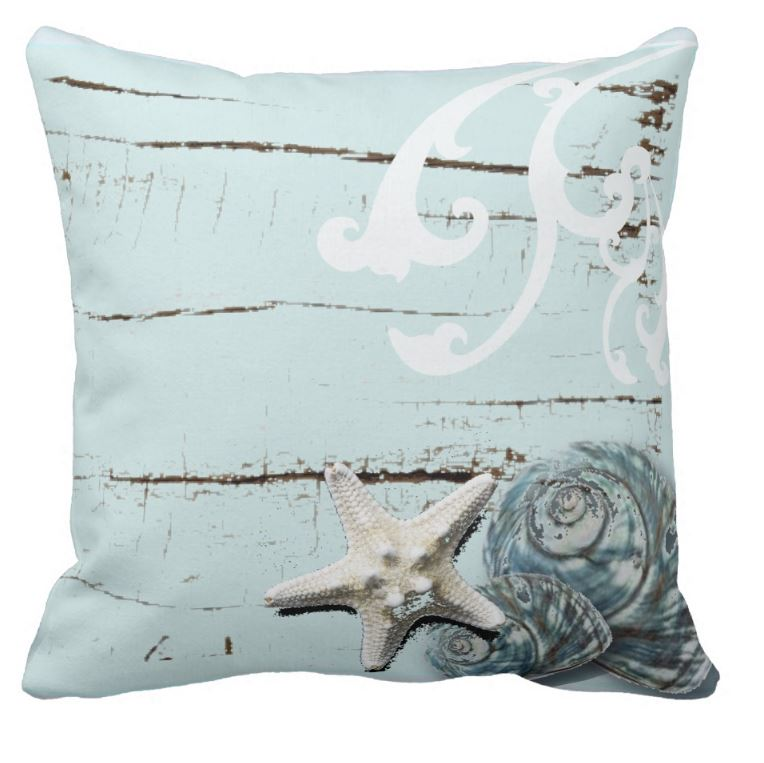 vintage beach house cushion