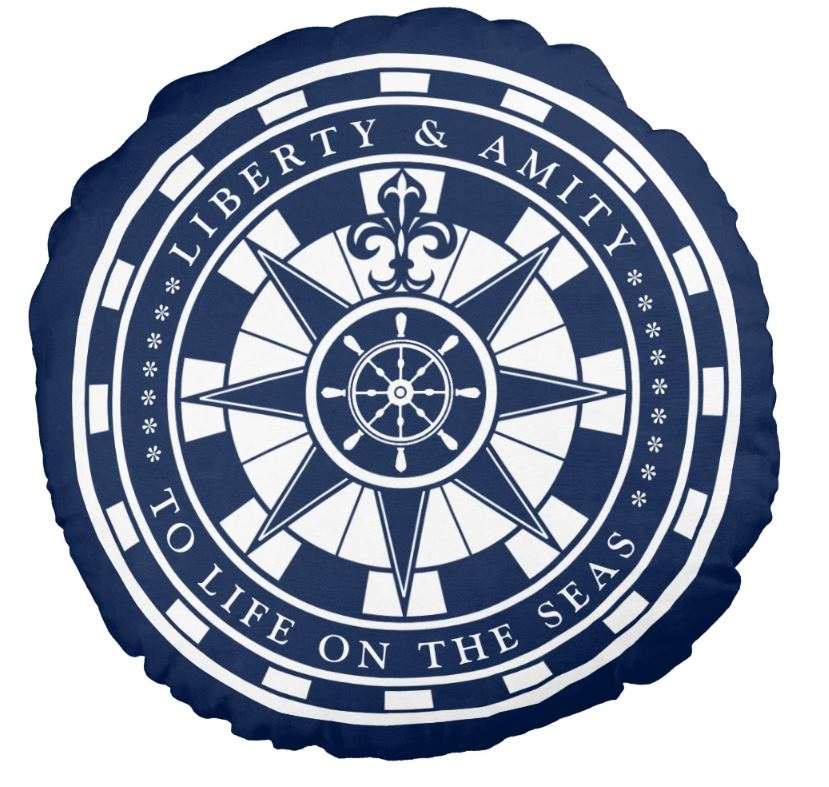 nautical compass cushion