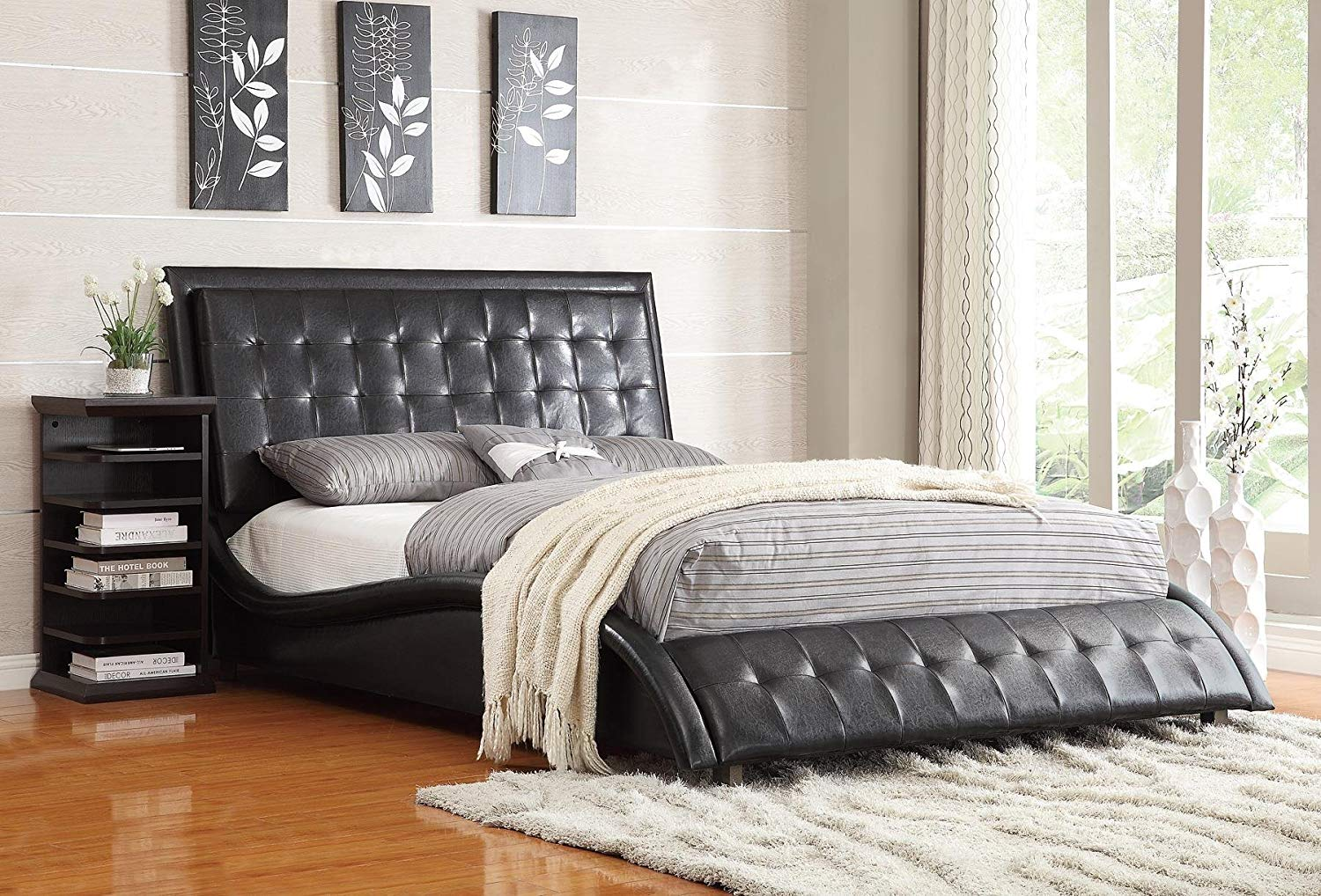 black curved bed