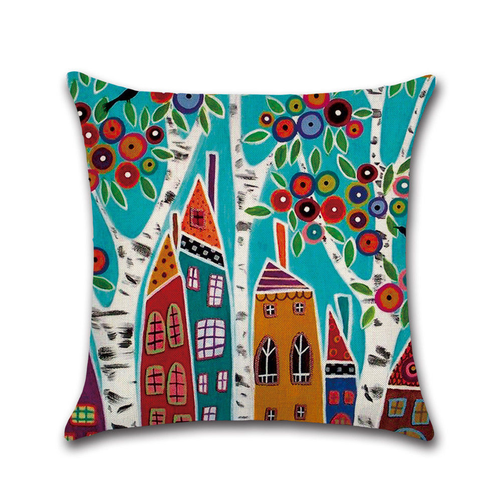 Decorative European Scene Building Cushions