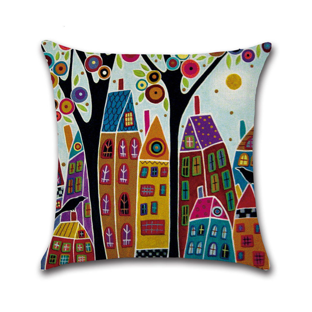 cityscape cushion