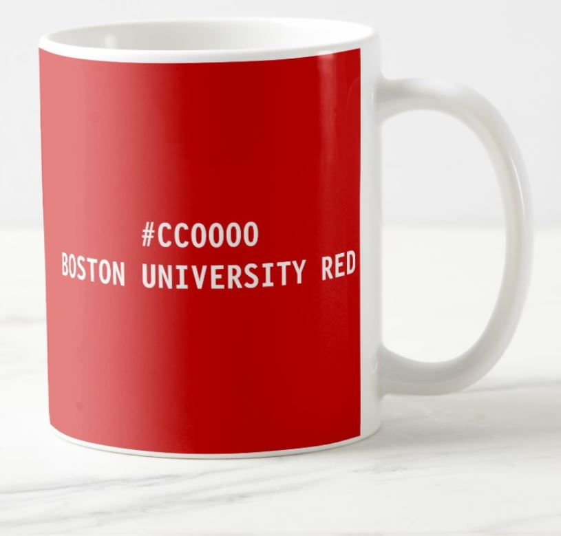 boston university red mug