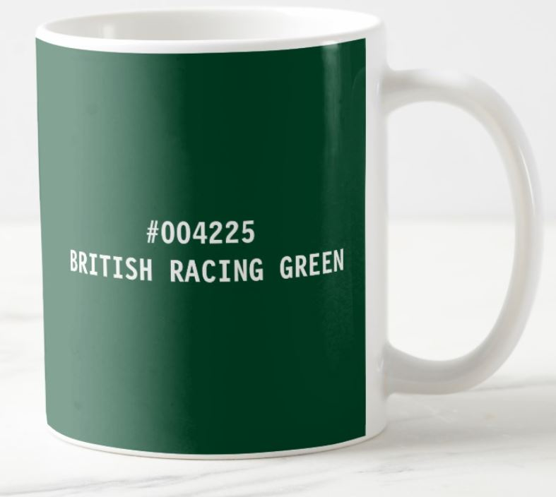 british racing green mug
