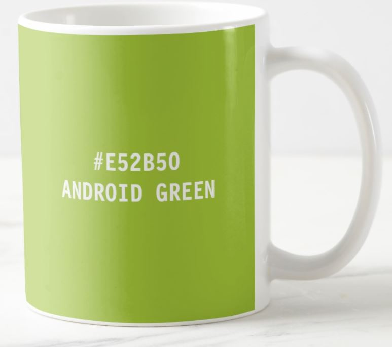 android green mug