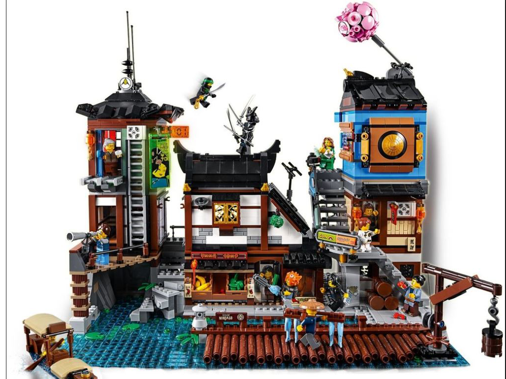 Awesome NINJAGO® City Docks Lego Kit