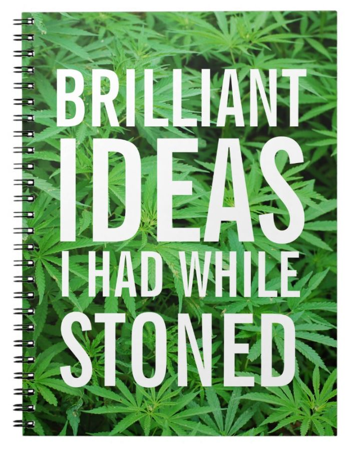 funny stoner notebook