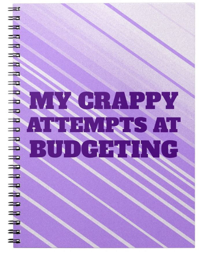 funny notebook purple