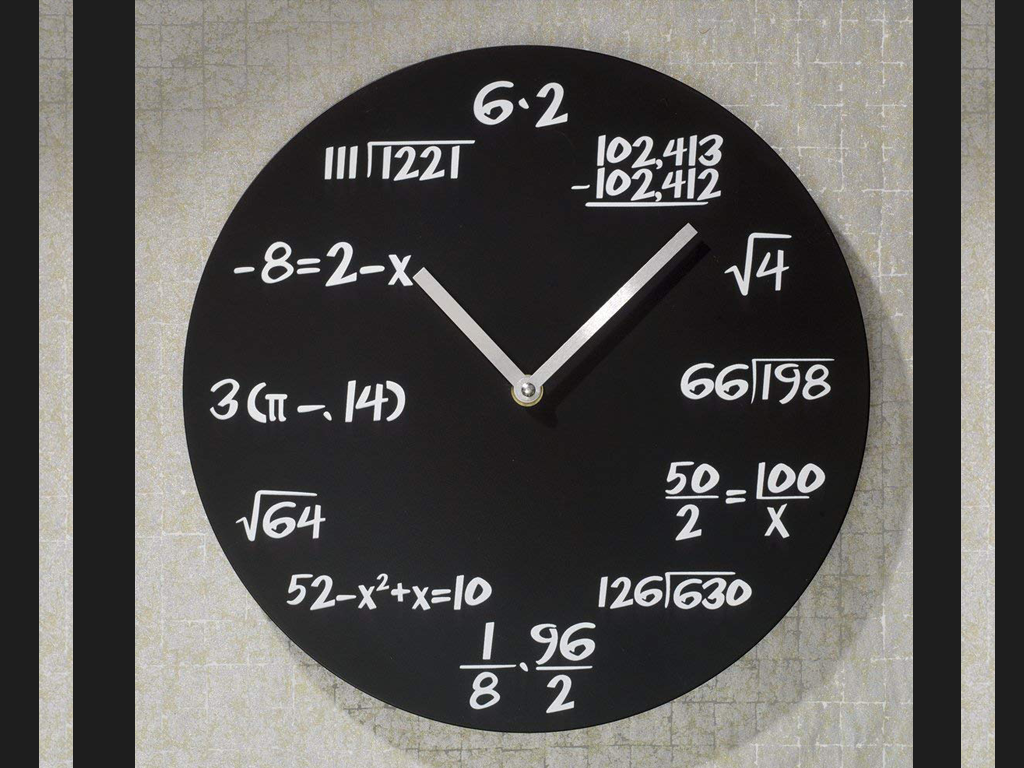 Cool Mathematical Formulas Decorative Clock