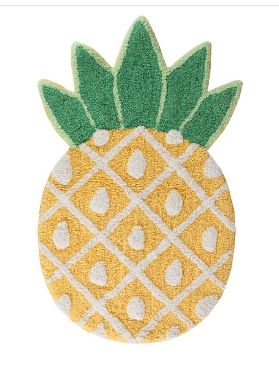 pineapple floor rug