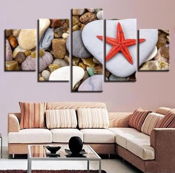 red starfish wall art