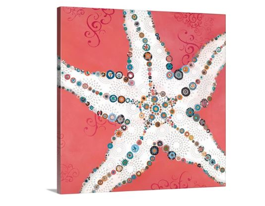 starfish coral wall art
