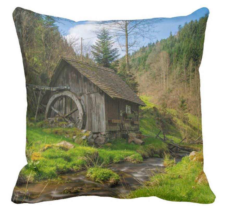 mill in the black forest cushion