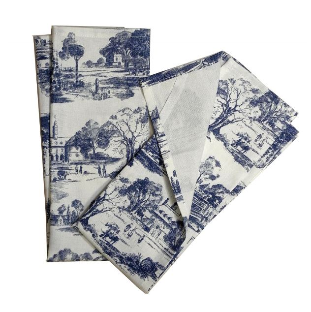 toile kitchen towels