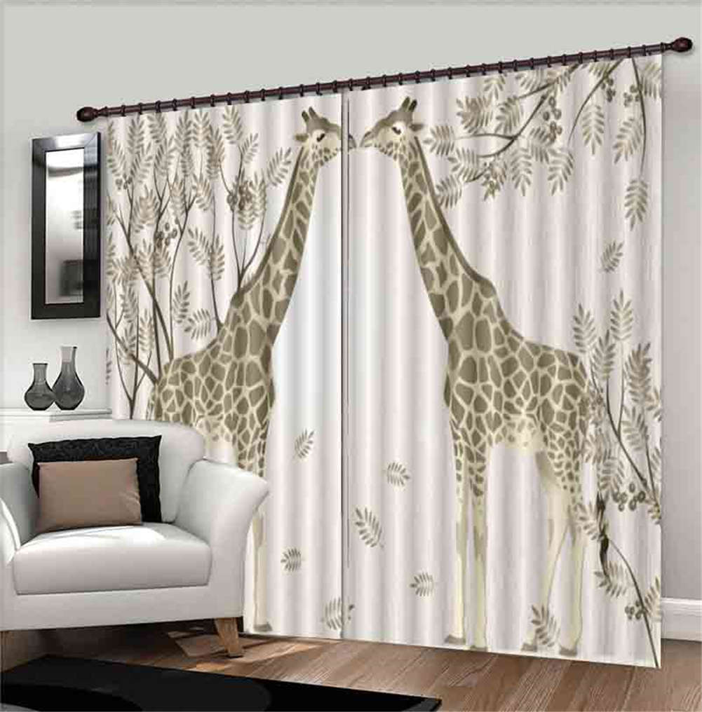 giraffe curtains