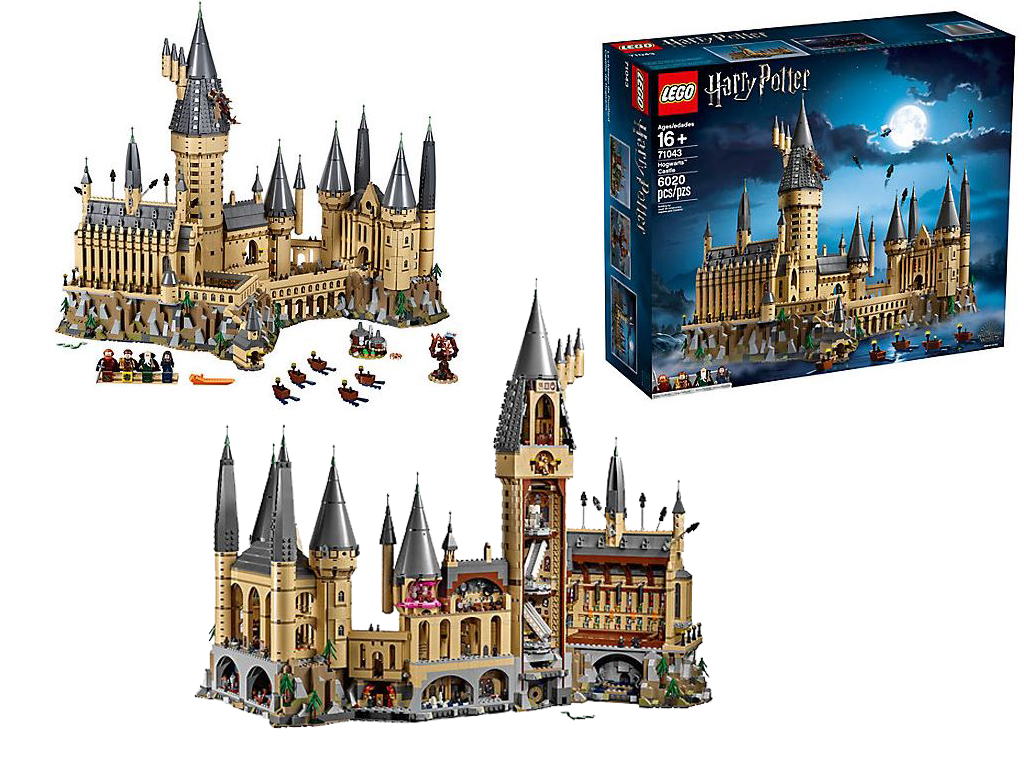 Microscale LEGO Version of Hogwarts Castle
