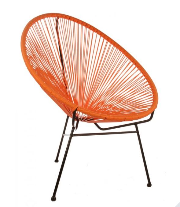 orange garden chair