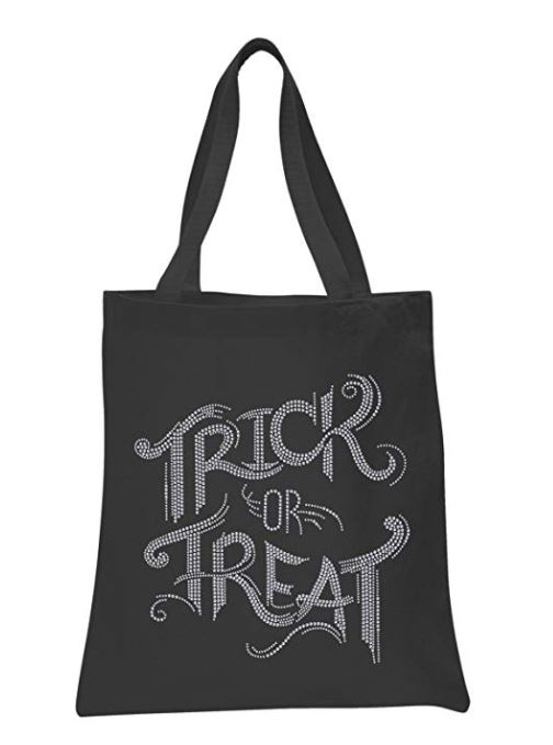 glitter trick or treat bag