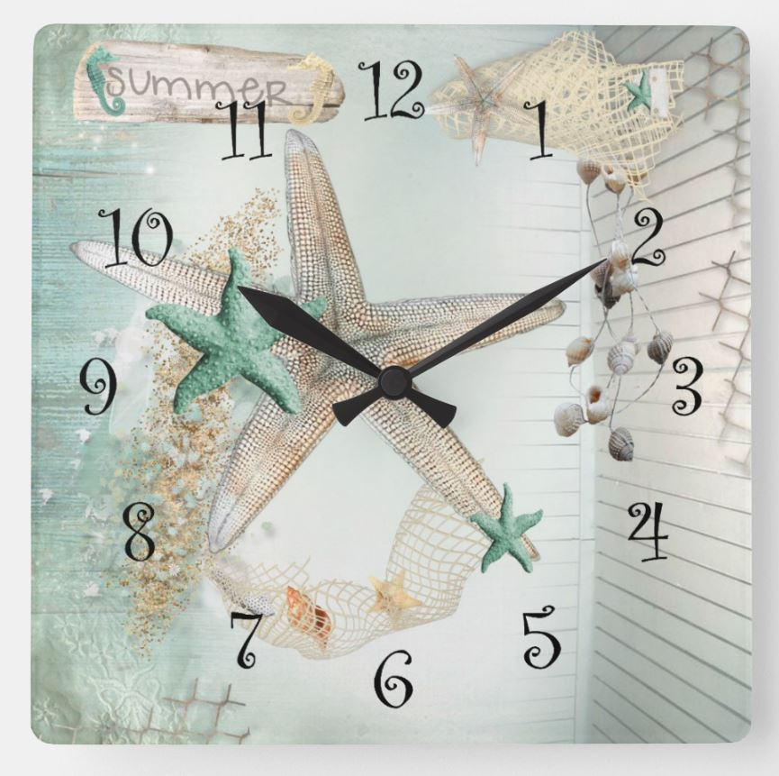 star fish clock