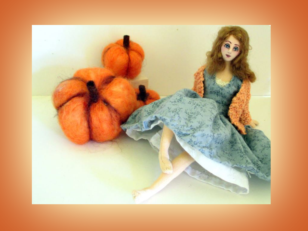 Handmade Cloth Art Thanksgiving Doll