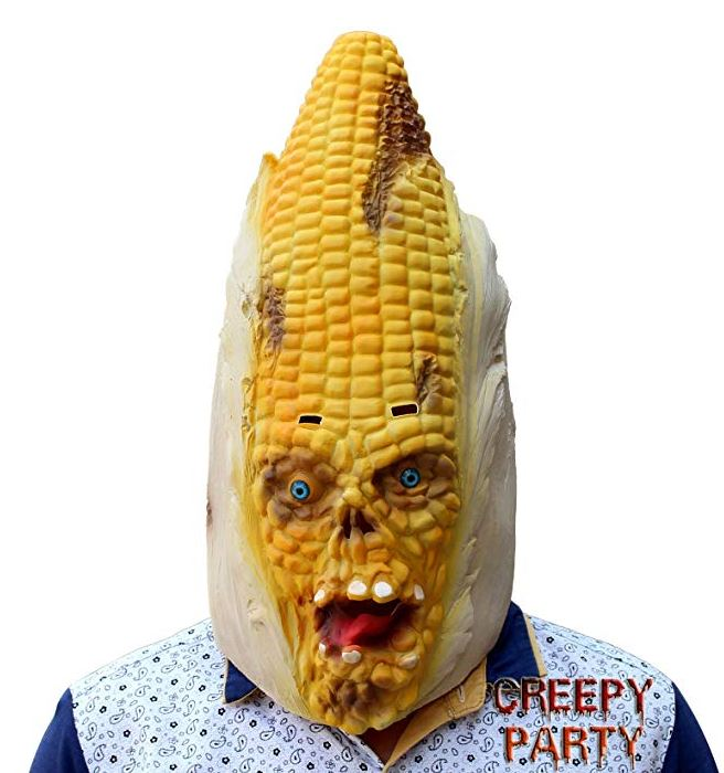 Halloween corn head mask