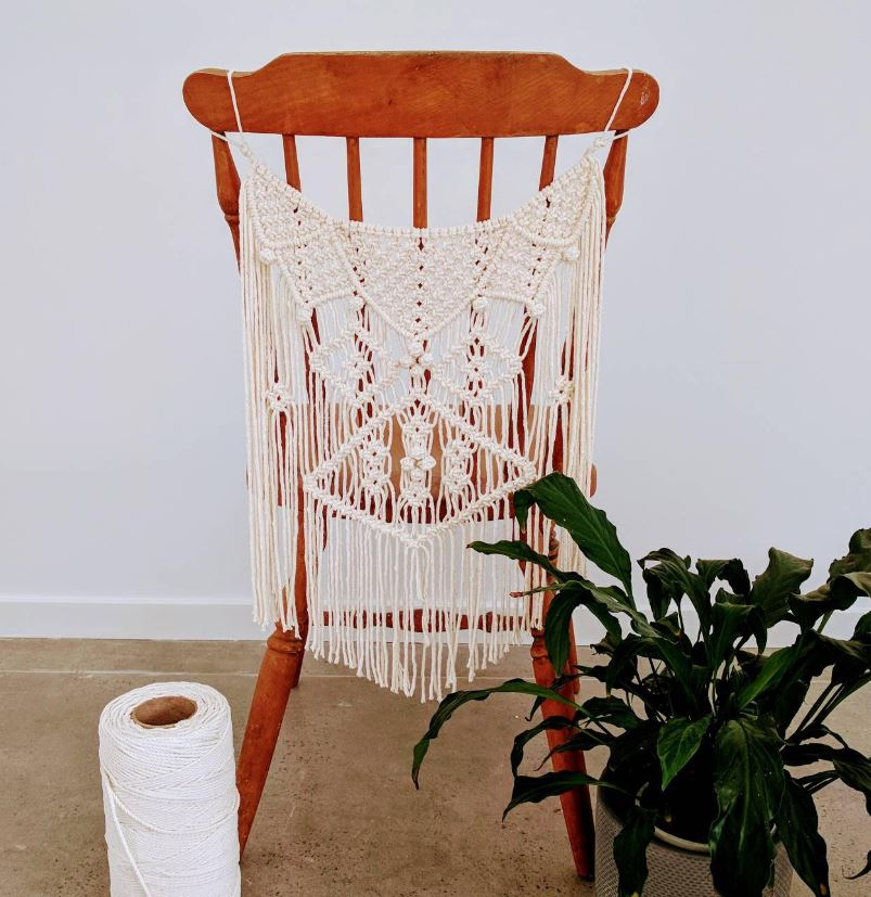 macrame chair hanger