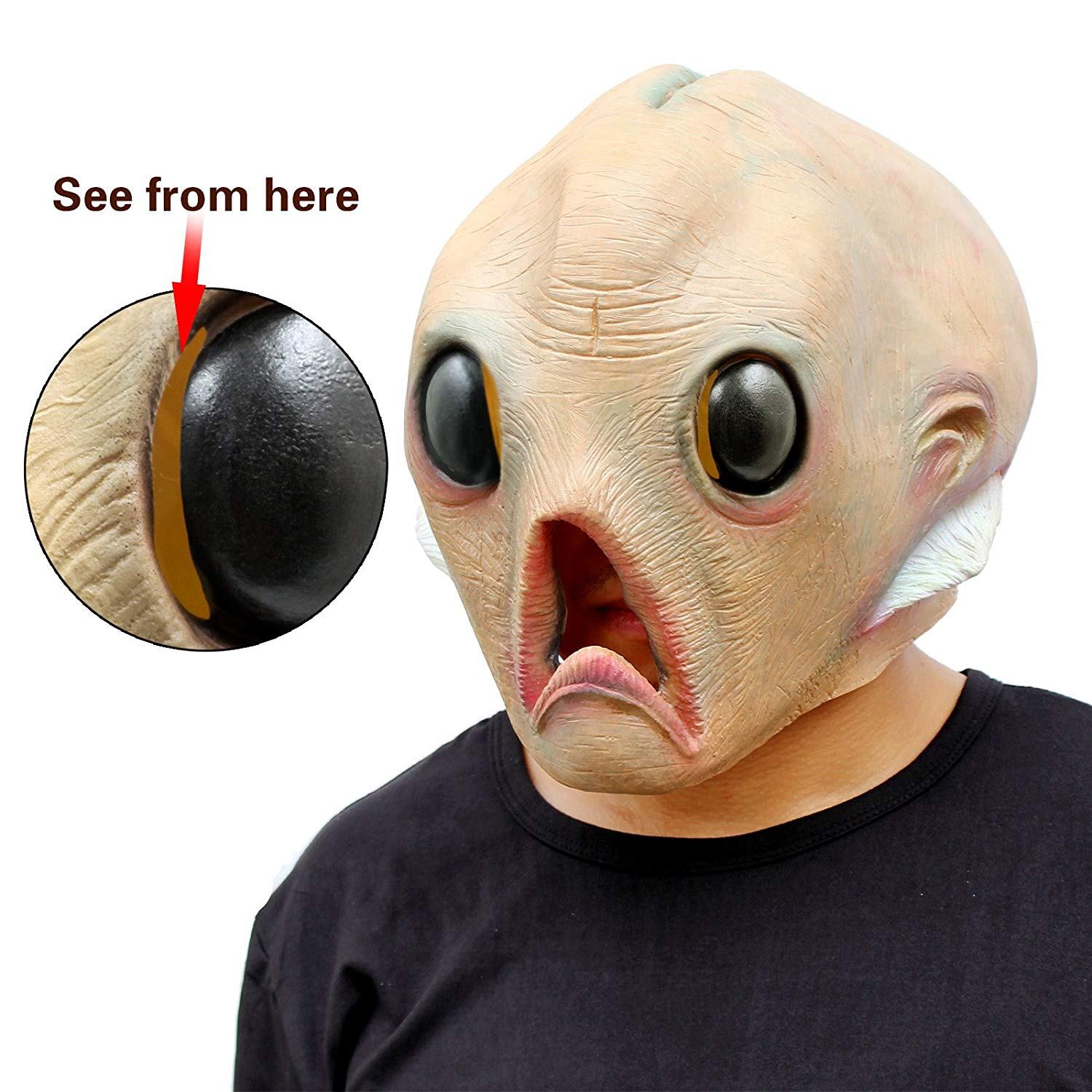 alien head halloween mask
