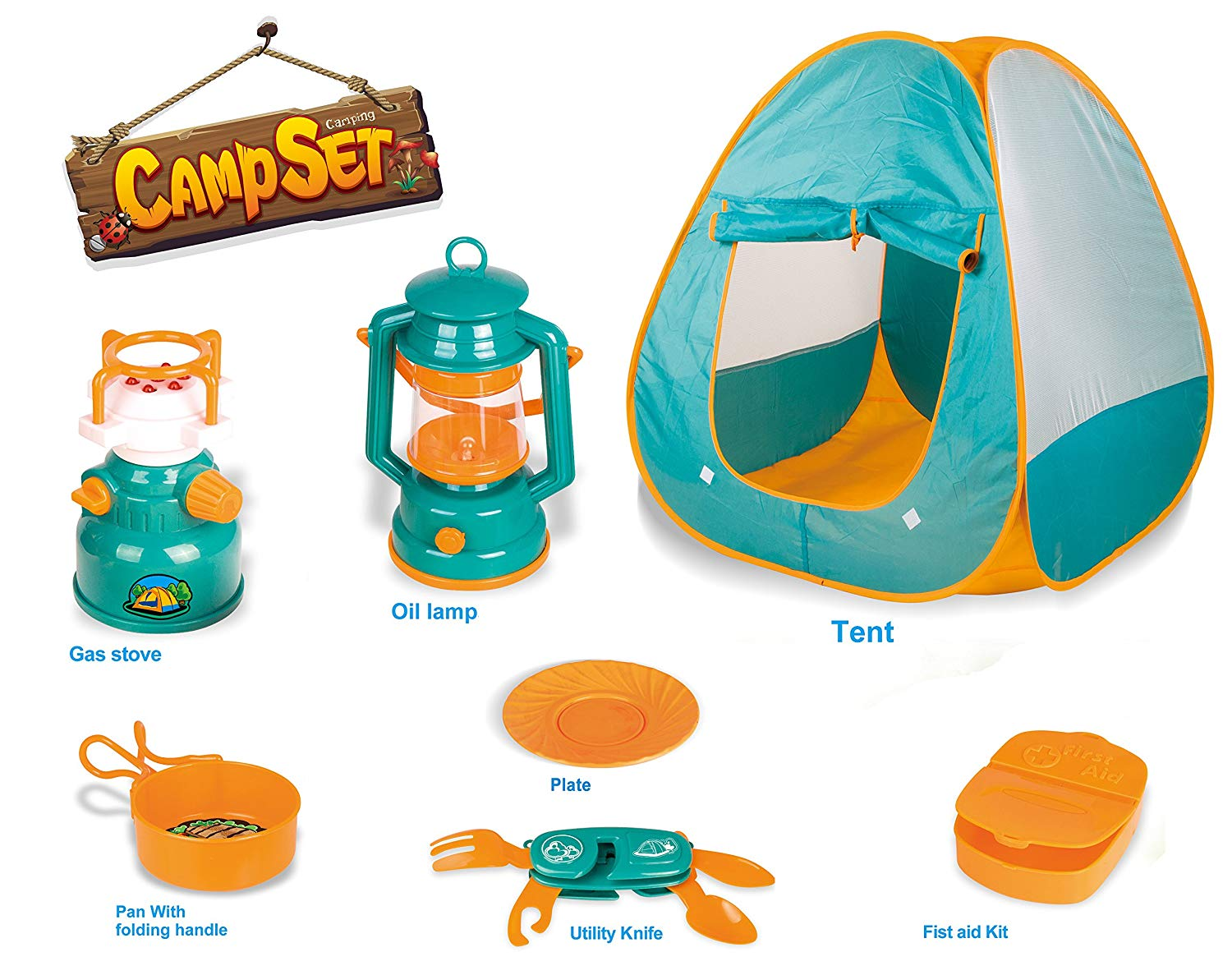 Kids Camping Play Kit With Tent