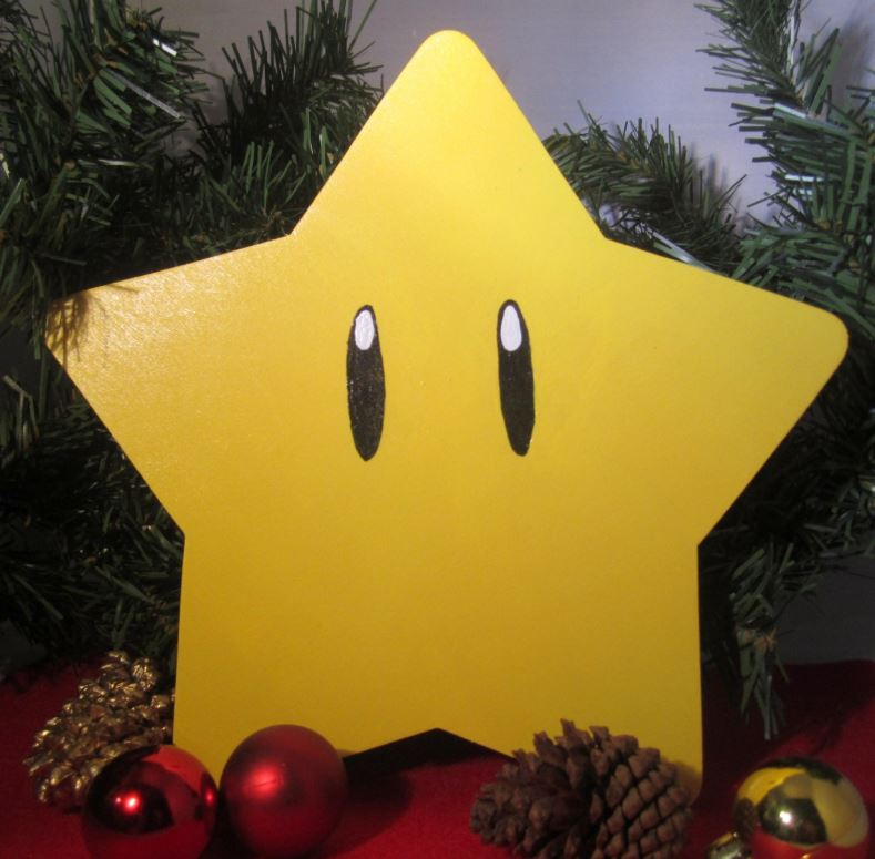 Mario Power Star Christmas Tree Topper