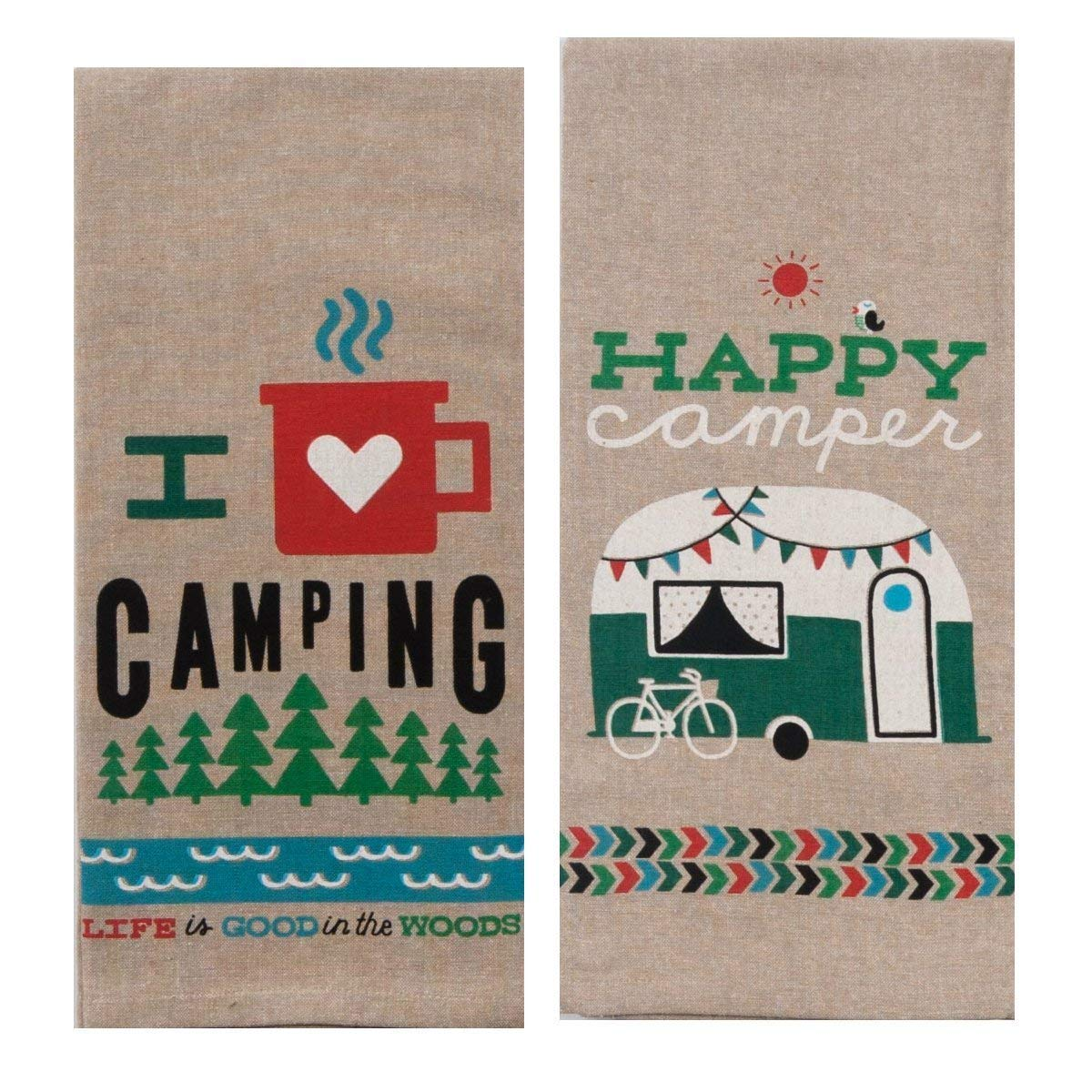 Happy Camping Towel Set