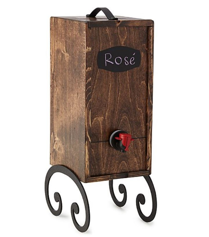 wooden wine dispenser