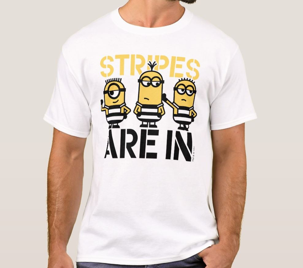 Stripes Are In Cute Minions Shirt