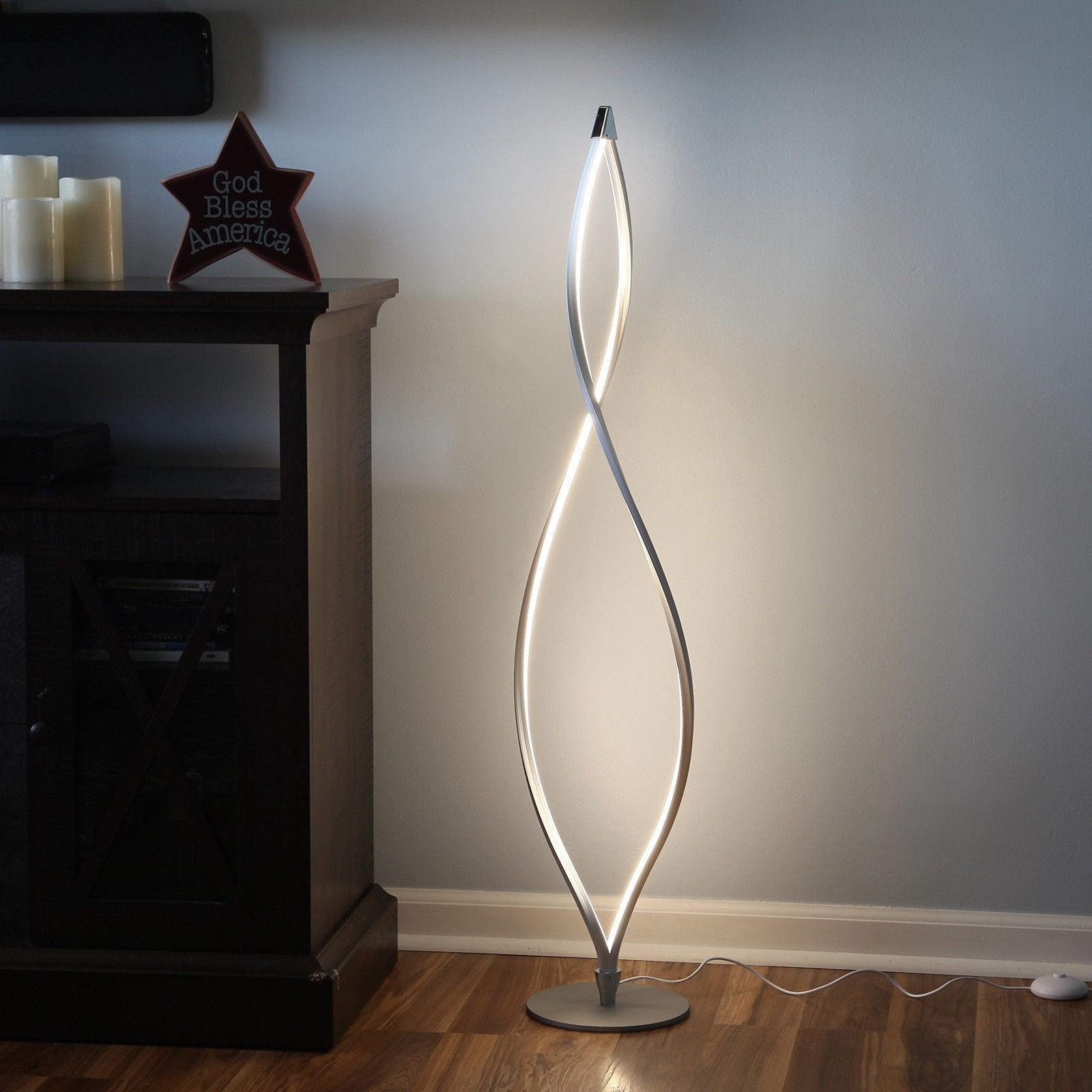 Contemporary Twist LED Standing Floor Lamp