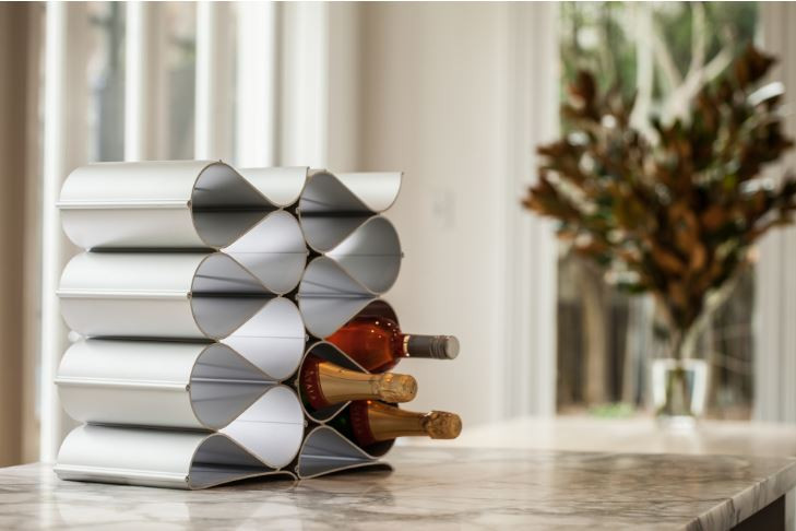 Modular Six Bottle Stackable Wine Rack Kit
