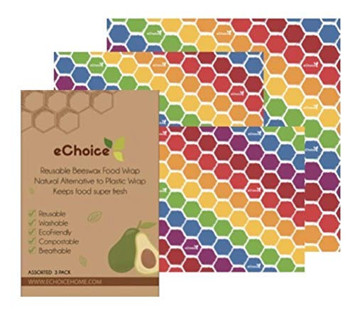 Organic Beeswax Reusable Environmentally Friendly Food Wraps