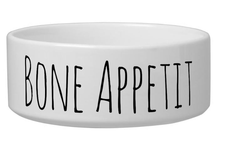 Bone Appetit Cute Ceramic Dog Bowl