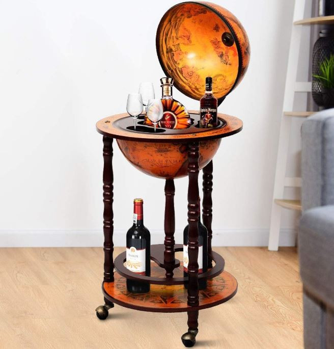 Stylish Globe Home Mini Bar Stand