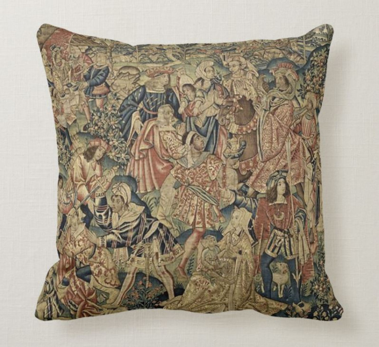 11 Throw Pillows with Antique Style Designs