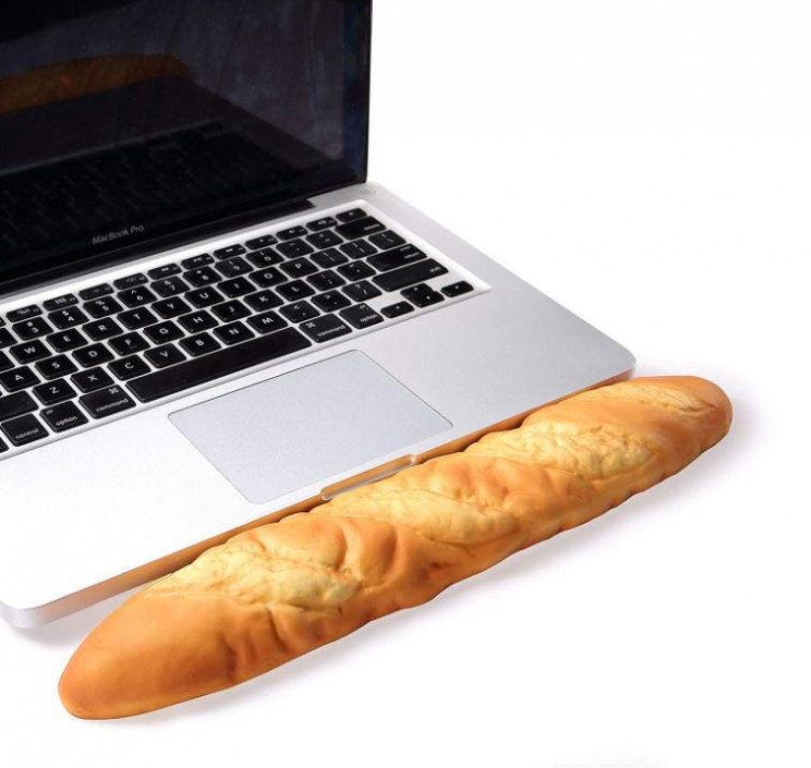 Cool Wrist Rest Pad That Looks Like A Breadstick