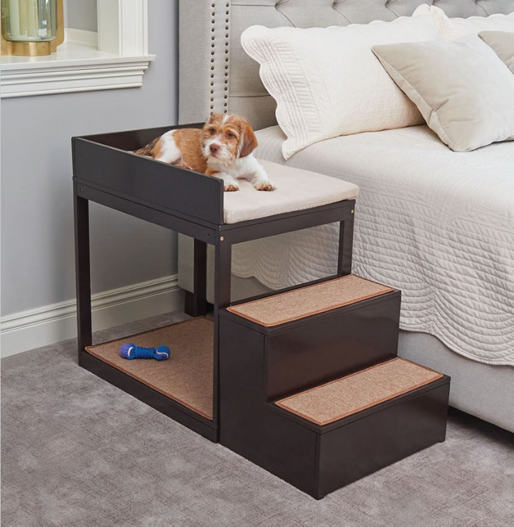 Lofted Bedside Bunk Bed For Your Pet