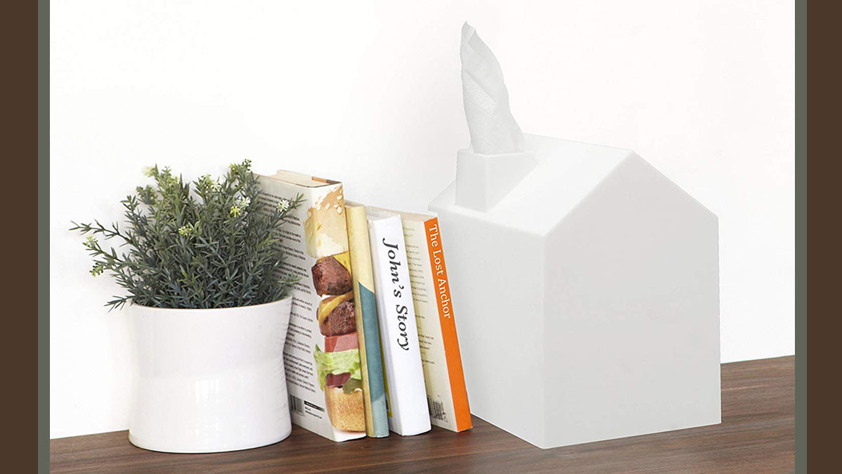 Cute House Shaped Square Tissue Box Cover