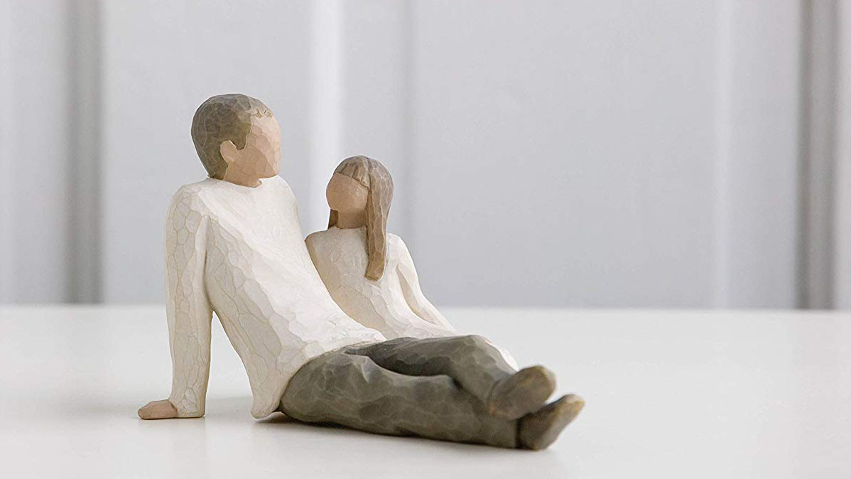 Father And Daughter Gift Hand Painted Willow Tree Sculpture