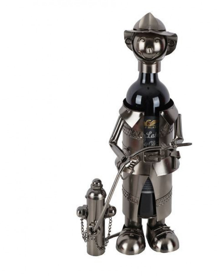 Fun and Quirky Fireman Wine Bottle Holder