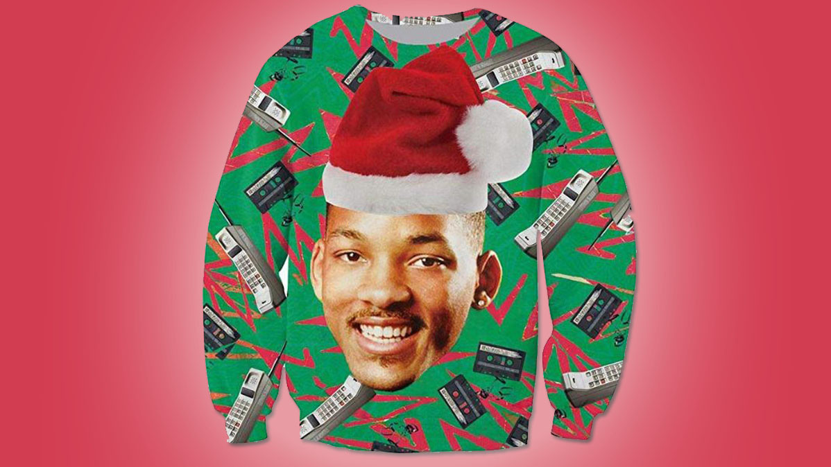 Cool 80s Style Ugly Christmas Sweater